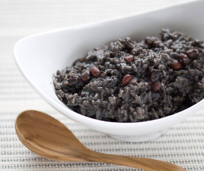 小豆と黒ゴマのお粥